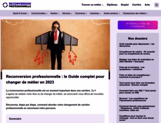 reconversionprofessionnelle.org screenshot