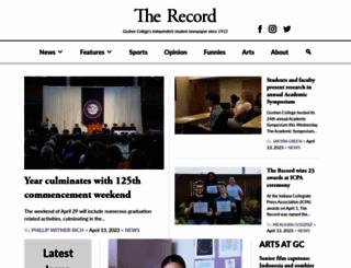 record.goshen.edu screenshot