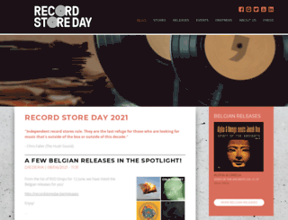 recordstoreday.be screenshot