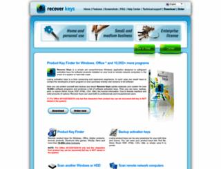 recover-keys.com screenshot