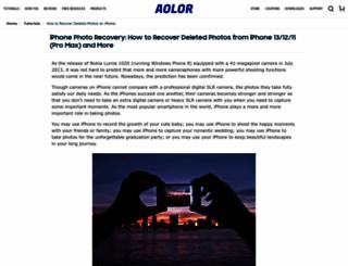 recoverdeletedphotosfromiphone.aolor.com screenshot