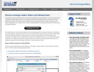 recoverexchangemailboxes.extractedb.net screenshot