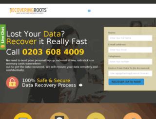 recoveringroots.co.uk screenshot