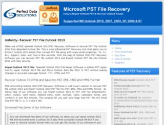 recoverpstfileoutlook2013.microsoftpstfilerecovery.com screenshot