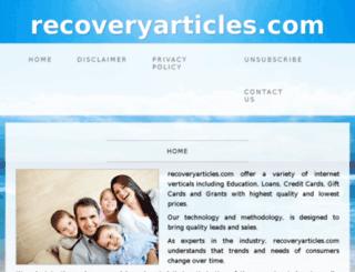 recoveryarticles.com screenshot