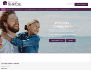 recoveryconnection.org screenshot