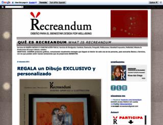 recreandum.blogspot.com.es screenshot