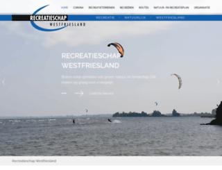 recreatieschapwestfriesland.nl screenshot