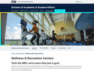 recreation.fiu.edu screenshot