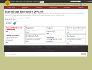 recreation.townofmanchester.org screenshot