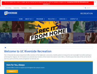 recreation.ucr.edu screenshot