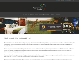recreationafrica.co.za screenshot