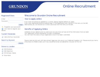 recruit.grundon.com screenshot