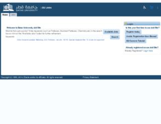 recruit.qu.edu.qa screenshot
