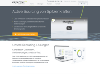 recruiter.experteer.de screenshot