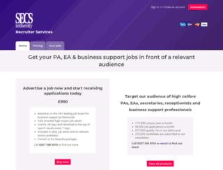 recruiter.secsinthecity.co.uk screenshot
