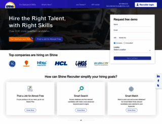 recruiter.shine.com screenshot