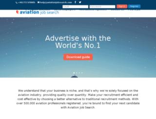 recruiters.aviationjobsearch.com screenshot