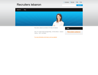 recruiterslebanon.webnode.com screenshot