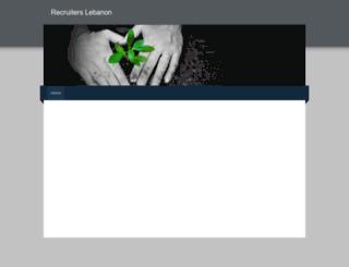 recruiterslebanon.weebly.com screenshot
