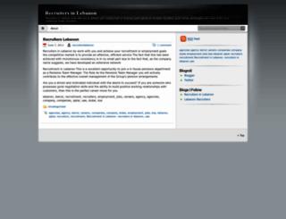 recruiterslebanon.wordpress.com screenshot