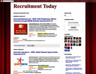recruitment-today.blogspot.in screenshot