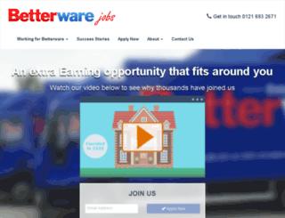 recruitment.betterware.co.uk screenshot