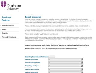 recruitment.durham.ac.uk screenshot