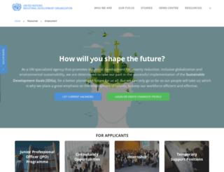 recruitment.unido.org screenshot