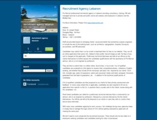 recruitmentagencylebanon.typepad.com screenshot