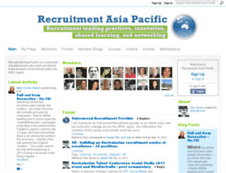 recruitmentasiapacific.com screenshot