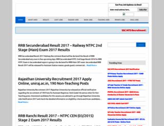recruitmentform.co.in screenshot