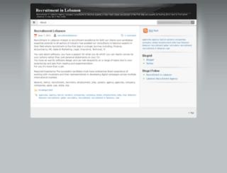recruitmentlebanon.wordpress.com screenshot