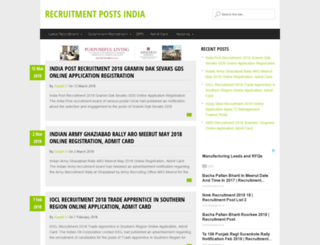 recruitmentposts.in screenshot