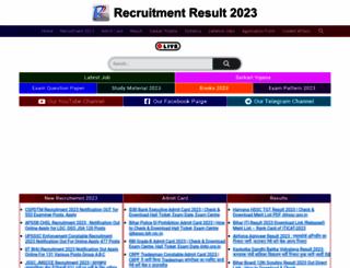 recruitmentresult.com screenshot
