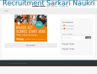 recruitmentsarkarinaukri.in screenshot