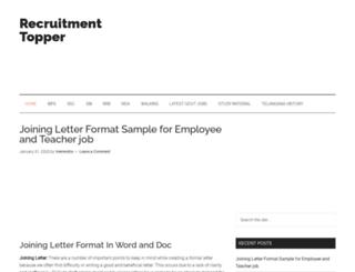 recruitmenttopper.com screenshot