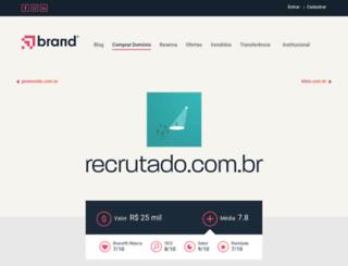 recrutado.com.br screenshot