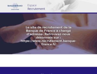 recrutement-banquedefrance.fr screenshot