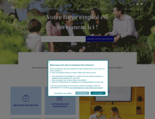 recrutement.axa.fr screenshot