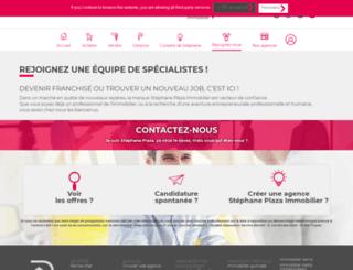 recrutement.stephaneplazaimmobilier.com screenshot
