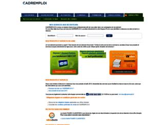 recruteurs.cadremploi.fr screenshot