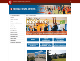 recsports.indiana.edu screenshot
