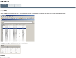 recsveditor.sourceforge.net screenshot