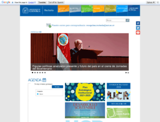 rectoria.ucr.ac.cr screenshot