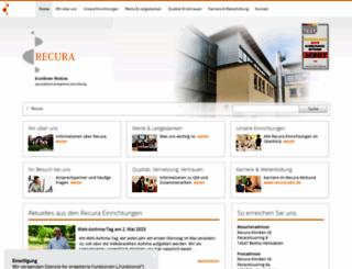 recura-kliniken.com screenshot