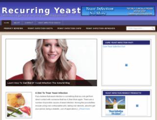 recurringyeastinfectionsx.com screenshot