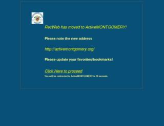 recweb.montgomerycountymd.gov screenshot