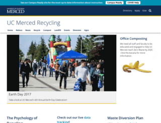 recycle.ucmerced.edu screenshot