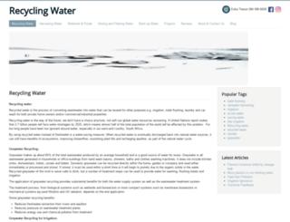 recyclingwater.co.za screenshot